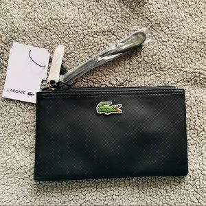 Lacoste Black Leather Wristlet - NWT